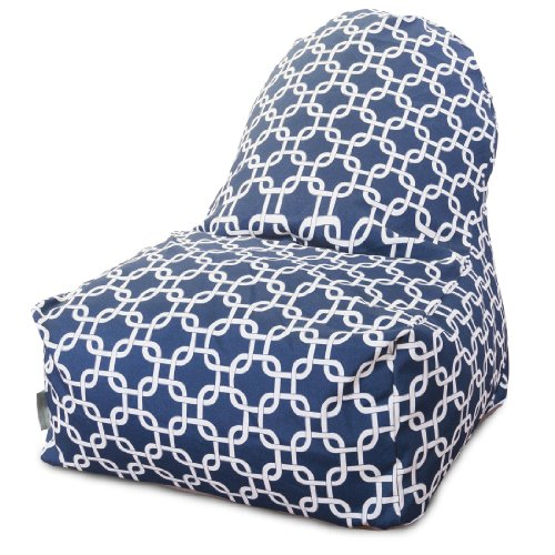 Majestic Home Goods Kick-It Chair, Links, Navy Blue