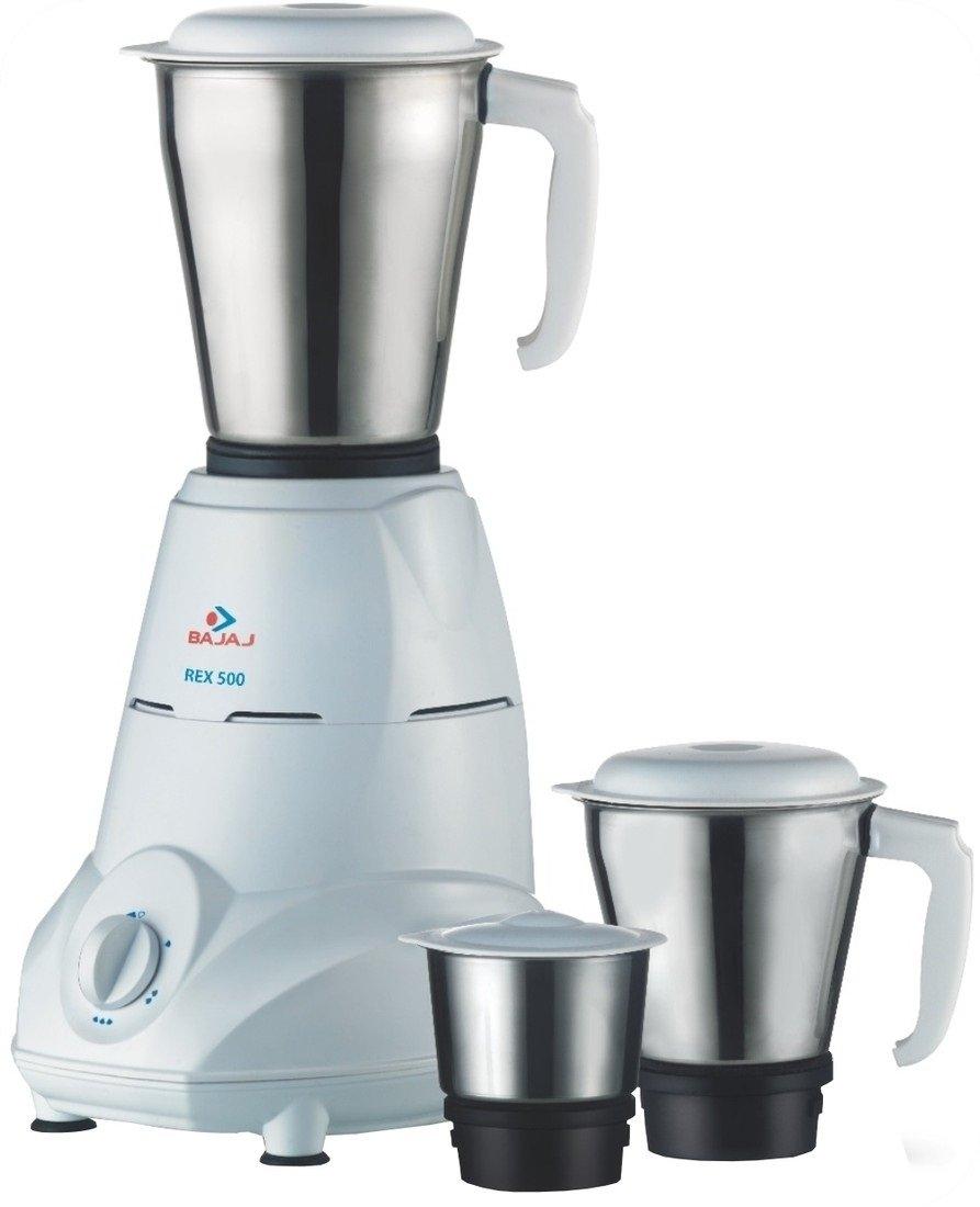 Bajaj Rex 500-Watt Mixer Grinder with 3 Jars (White) By Amazon @ Rs.1,749