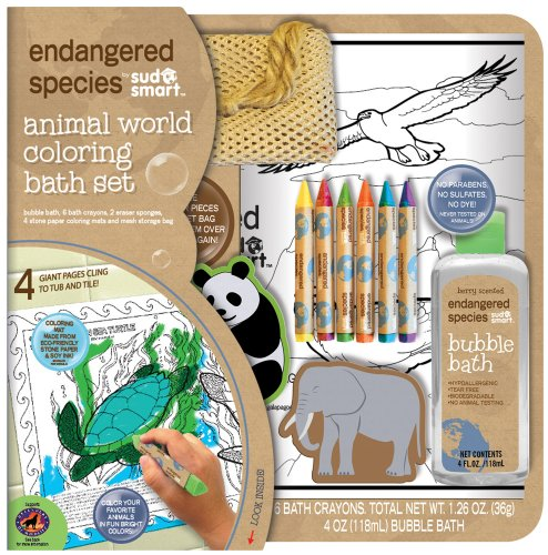 Endangered Species by Sud Smart Animal World Coloring Bath Set - 1