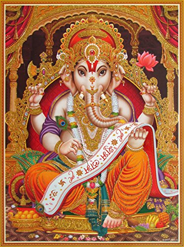 Avercart Lord Ganesha / Shree Ganesh / Shri Ganpati Poster 30x40 cm Unframed (12x16 inch rolled)