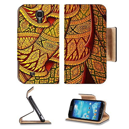 MSD Premium Samsung Galaxy S4 Flip Pu Leather Wallet Case Traditional Thai style painting art IMAGE 20441888 (Giant Jordan Box Draw compare prices)