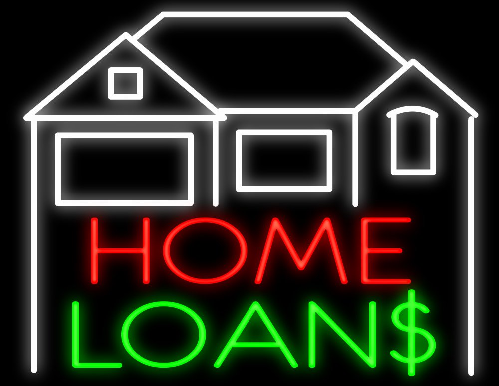 Home Loans with House Neon Sign - Made In USA - - Amazon.com
