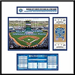 2012 MLB All-Star Game Ticket Frame Jr - Kansas City Royals