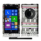 Artistic Beautiful Design Nokia Lumia 1020 Elvis (AT&T / Microsoft Windows Phone 8) Hard Protector Cover Case + Bonus Long Arch 5.5 Baby Blue Screen Cleaning Cloth + Bonus 4 Metallic Black Capacitive Stylus Pen (Silver Aztec Antique Tribal Art)