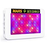 MarsHydro 300W LED Grow Light Full Spectrum for Hydroponic Indoor Plants Growing Veg and Flower (Color: White, Tamaño: Mars 300W)