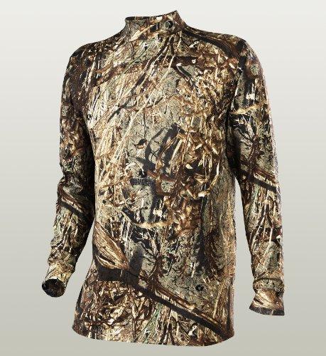Russell Outdoors Men's Explorer Mock Long Sleeve T-Shirt, Mossy Oak Duck Blind, Large