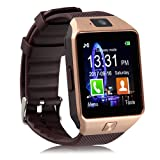 Padgene DZ09 Bluetooth Smart Watch with Camera (Color: Gold, Tamaño: One Size)