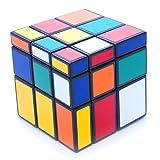 3x3x3 Black Two Solution Horror Mirror Bump Cube Twisty Puzzle 3x3
