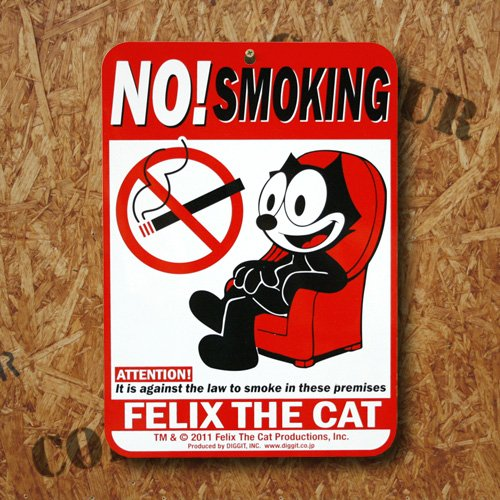 【FELIX】フィリックス シングルプリンティング サインボード <A - NO SMOKING>