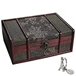 SiCoHome Treasure Box 9.0inch Grape Small Trunk Box for Jewelry Storage,Treasure Cards Collection,Gift Box,Gifts and Home Decoration
