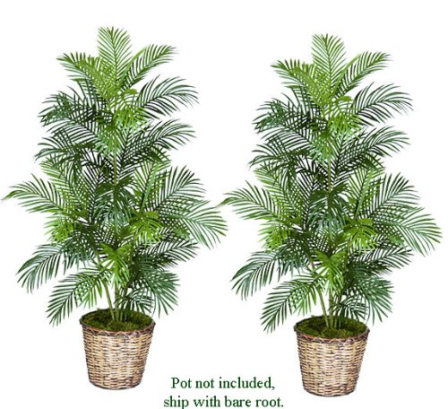 TWO 5′ Artificial Areca Palm Trees