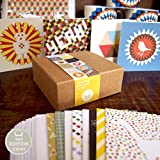 Bright Stem 12 Small Notecards/Thank You Cards Mixed Pack (9.5x9.5cm)