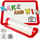 Bake and Win Nonstick Silicone Baking Mat. Large Half Sheet: 16 1/2 inches x 11 5/8 inches
