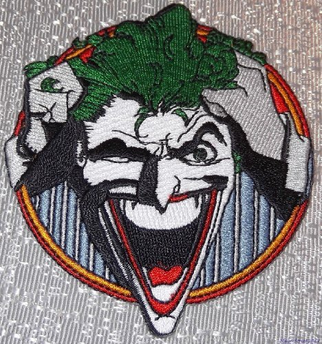 Batman Series The JOKER Grabbing Hair and Laughing Embroidered PATCH - 1