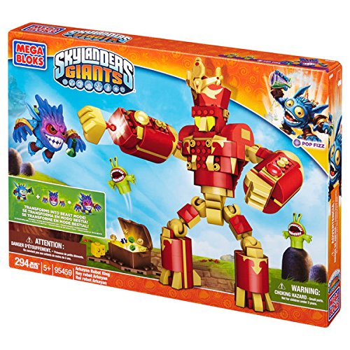 Mega Bloks Skylanders Giants Arkeyan Robot King, Special Transforming Pop Fizz Figure.