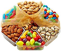 Hula Delights Deluxe Candy & Nuts Gift Basket, 7 Section