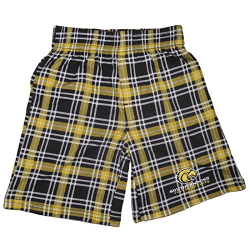 NCAA Southern Miss Golden Eagles YOUTH Plaid Pajama Shorts XL Multicolor