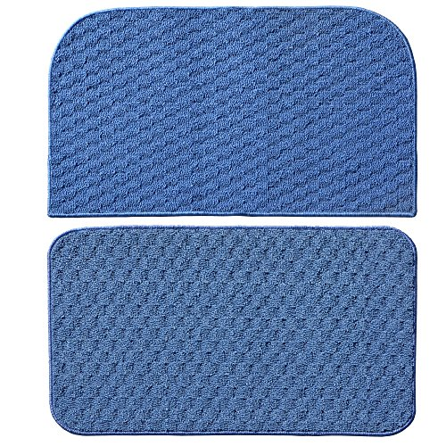 Garland Rug Town Square 2-Piece Kitchen Rug Set, 18-Inch By 28-Inch, Sky Blue front-589345