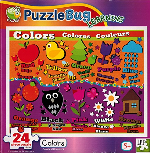 Puzzle BUG 24pc Learning Puzzle COLORS