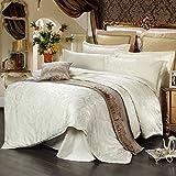 utgeek 4 Stück Bettwäsche Bettdecken European Style Satin Jacquard Bedspreads