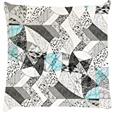 Snoogg Abstract Math Cushion Cover Throw Pillows 16 X 16 Inch