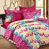 Story@Home Candy 120 TC Double Bedsheet With 2 Pillow Covers Pink