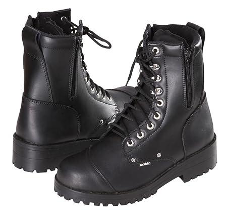 Modeka mARINE bottes de moto en cuir noir