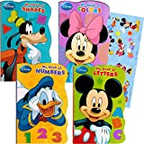 Disney® Mickey Mouse My First Books (Set of 4 Large Shaped Board Books Plus Stickers)