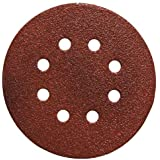 PORTER-CABLE 735801025 5-Inch 100 Grit Eight-Hole Hook & Loop Sanding Discs (25-Pack)