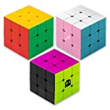 Prismatic Puzzle Pack: Original, Sweets Mod, and 80s Mod 3 x 3 Stickerless Speed Cubes by Brybelly