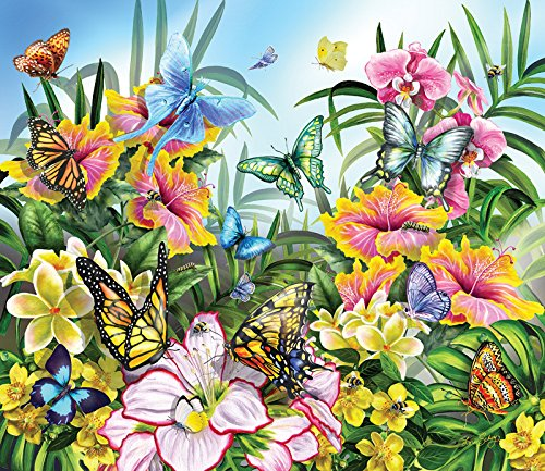 Butterflies in the Garden a 200-Piece Jigsaw Puzzle by Sunsout Inc.