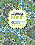 Inspiring Words Coloring Book: 30 Ver...