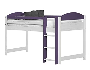 Design Vicenza Maximus Mid Sleeper Long 3ft White With Lilac Details
