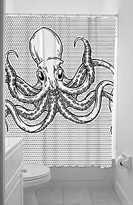 "Octopus Waterproof Bathroom Handing Shower Curtain 60""(w)*72""(h)"