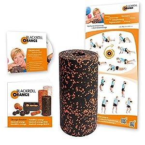 Blackroll Orange (Das Original) Selbstmassagerolle inkl. Übungs-DVD und Übungs-Poster