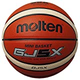molten(モルテン)【BGJ5X】小学生・子供・キッズ用 ミニバスケットボール 5号球 GJ5X オレンジ×アイボリー