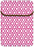 Macbeth Collection 15.6-Inch Reversible Sleeve, Jezebel Confetti/Bon Bon Pink (MB-XL2CJ)