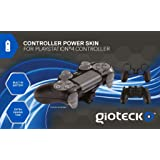 Gioteck Controller Skin Plus Black with Built-In Battery - PlayStation 4 (Color: White)