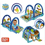 BW Ocean Wonders Kicks And Crawl Activity Play Gym For New Born-To-Toddler