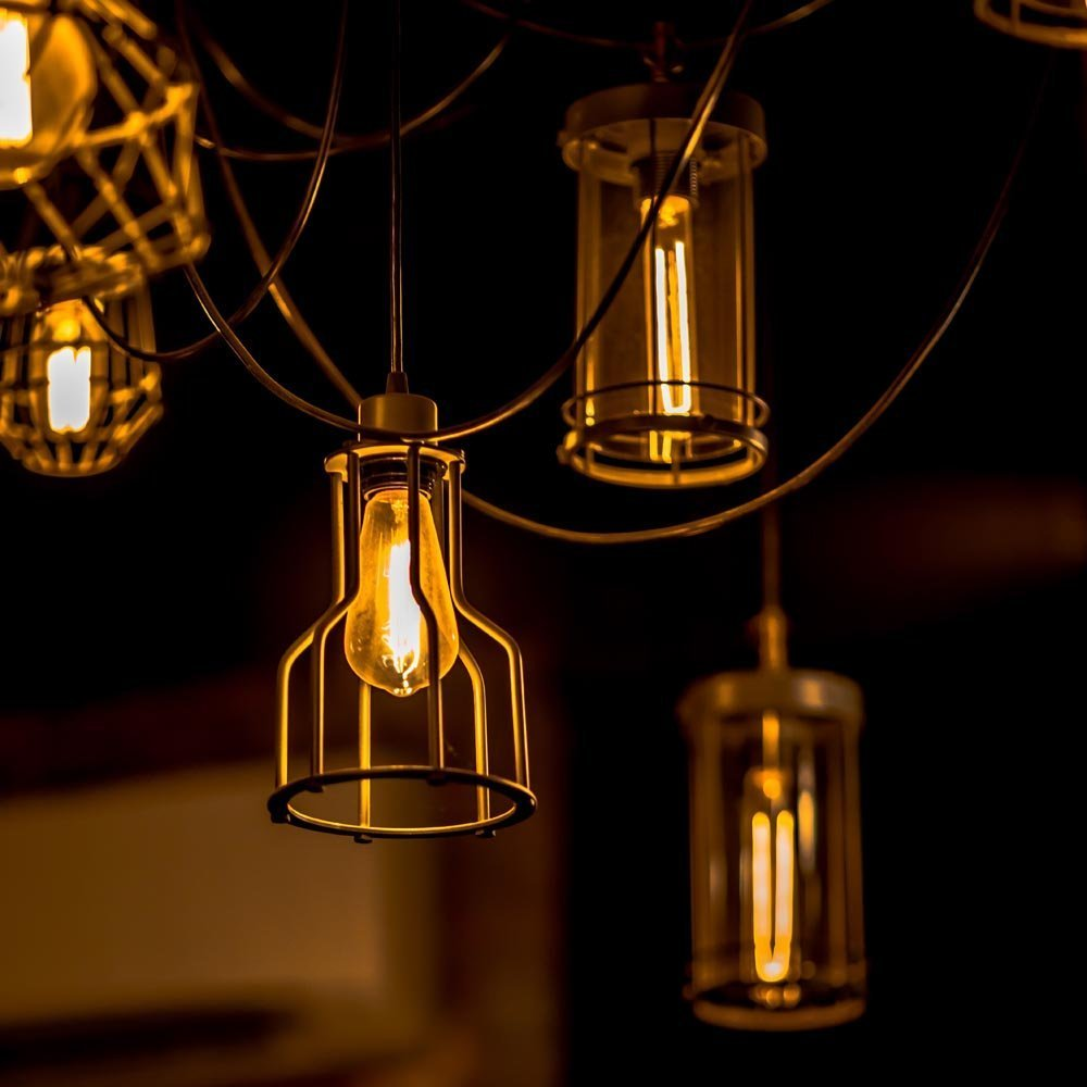 Edison Bulbs, Rolay 60w Dimmable Industrial Pendant Filament Light Bulbs with Vintage Antique Style Design for Pendant Lighting, Wall Sconces, Ceiling Fan and Chandeliers - 370 Lumens - 6 Pack 4