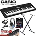 Casio CTK-3200-WM Touch Sensitive Keyboard + Official AC Adapter + Cushioned Headphones + Westmount� Stand, plus FREE Online Lessons