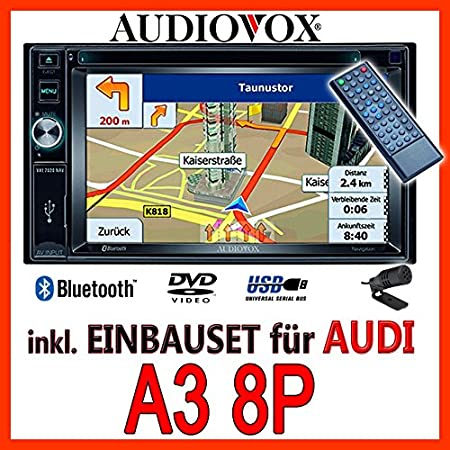 AUDI a3 8P-audiovox vXE7020 navigationsradio uE autoradio navi dVD avec écran tFT bluetooth