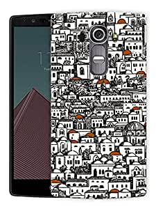 """Houses On Houses Printed Designer Mobile Back Cover For """"LG G4"""" By Humor Gang (3D, Matte Finish, Premium Quality, Protective Snap On Slim Hard Phone Case, Multi Color)"""