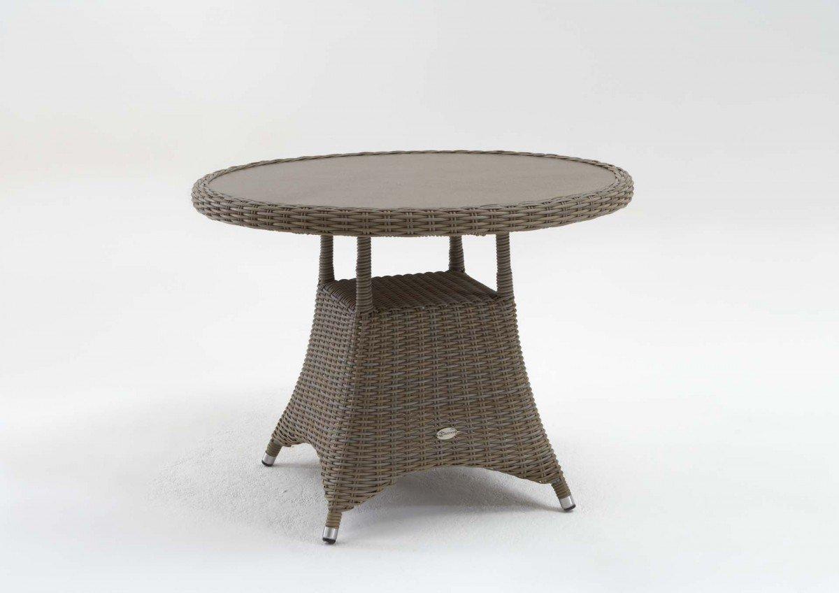 Gartentisch 'Roy' vintage grau 100 cm wetterfeste Tischplatte Beistelltisch