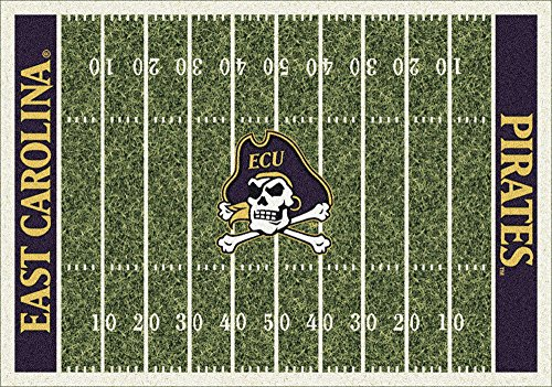 East Carolina Pirates NCAA Area Rug (10'9