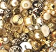 Buttons Galore Haberdashery Button, Gold/Silver, Pack of 100 by Buttons Galore