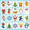 Party Bag Filler Christmas Tattoos for Children (Pack of 24)