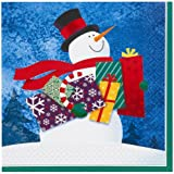16x Snowman Gifts Party Paper Napkins / Christmas Dinner