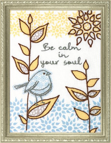 Dimensions Needlecrafts Handmade Embroidery, Be Calm
