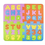 Educational Eva Foam Puzzle With Removable Abc And Numbers For Kids Learning And Playing